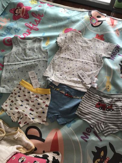 千趣会 BABY&CHILD婴儿童装通款网眼短袖圆领内衣两件组GITA C61028 黄色 150cm(150cm) 晒单图