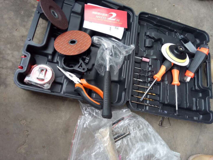 圣泰小手钻微型电钻手电钻正反转家用手枪钻机 电动螺丝刀220v 工具箱 普通版(红色)+钻头套+切磨套+塑盒 晒单图