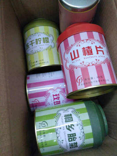 【买3件送杯】蒲草茶坊花果茶 胭脂红果 山楂茶 80g/罐 山楂片花草茶 红果片 晒单图