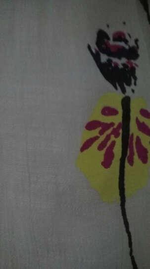 八雪套装女2018春夏季新品棉麻连衣裙印花宽松时尚复古名媛裙子大码女装 (中袖配项链)灰色 M(适合106-115斤) 晒单图