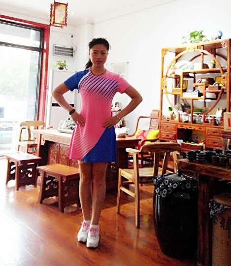 XINTOWN 羽毛球服 羽毛球服套装 比赛训练服 网球裙速干衣乒乓球衣羽毛球服男女 1703B+白色百褶裙 M 晒单图