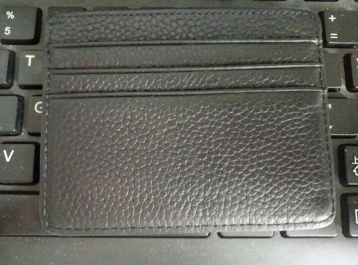 巴适超薄小卡包男士真皮 多卡位卡片包银行卡包名片夹卡夹卡套0.2 黑色花皮 晒单图