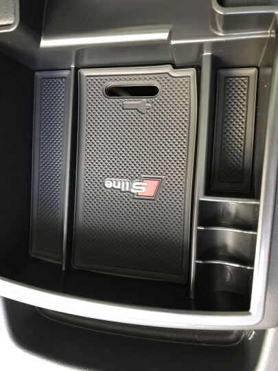 SNBLO 奥迪新A3/Q5/Q3/A5/A4L专用改装内饰装饰扶手箱储物盒原装置物盒 Q5前车门黑色储物盒一对 晒单图