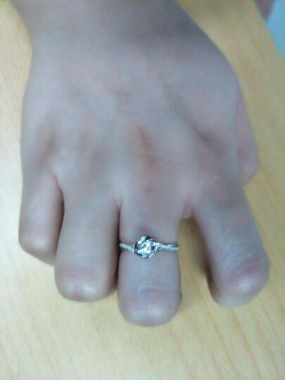 鸣钻国际 30分效果钻戒女 白18K金钻石戒指结婚求婚女戒 情侣钻石对戒女款 四爪豪华 13号指圈 晒单图