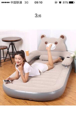 佳嘉优单人懒人沙发充气床气垫床家用便携式床垫卡通床小熊加厚 粉红色 1200*2000 晒单图