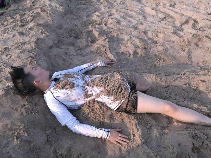 泳衣女连体平角裙式保守遮肚显瘦加大码胖MM时尚温泉泳装 蓝桔花泳衣 5XL(175-200斤) 晒单图