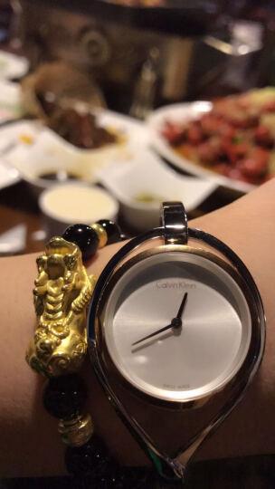 CK卡文克莱(CalvinKlein)手表  LIGHT系列银色钢表带手镯式石英女表K6L2MB16 晒单图