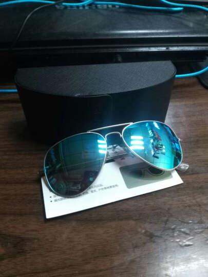 宝岛眼镜  男女款司机驾驶太阳镜 时尚潮流彩膜偏光 男蛤蟆镜 目戏3025 蓝色镜片 58尺寸 晒单图