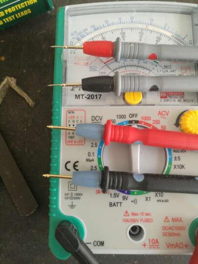 宝工Pro'sKit MT-2017 26档指针式万用表 防烧防误测机械万用表 买1送10+20A特尖表笔+表包 晒单图