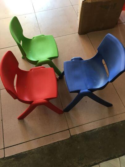申永幼儿园桌椅 幼儿园椅子幼儿园椅子 塑料板凳子小靠背椅 大号红色 晒单图