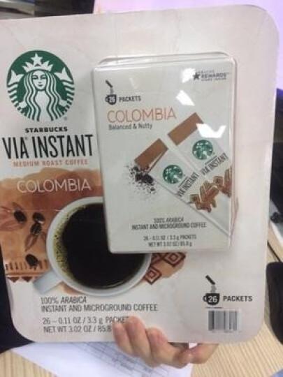 美国星巴克VIA速溶咖啡美式无糖黑咖啡纯咖啡条装免煮咖啡粉提神 VIA速溶咖啡85.8g 晒单图
