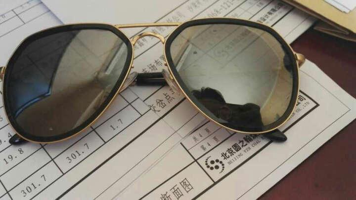 音米(INMIX)情侣款偏光太阳镜 时尚飞行员蛤蟆镜潮人复古墨镜驾驶镜 炫彩眼镜 1201 金框蓝紫片 晒单图