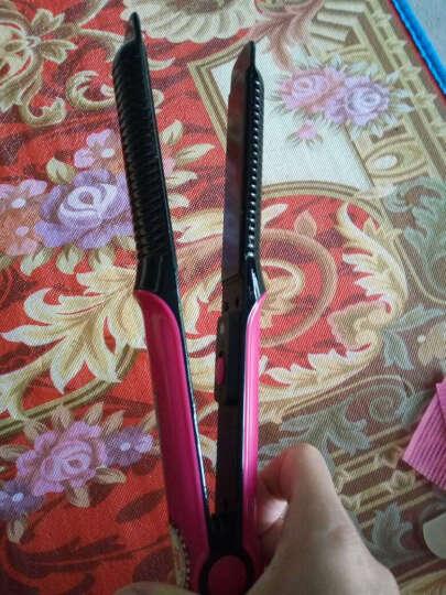 康夫(Kangfu) 卷发器直发夹 直卷两用夹板卷发棒迷你直发器拉直板夹发器 干湿两用 玫红色 晒单图