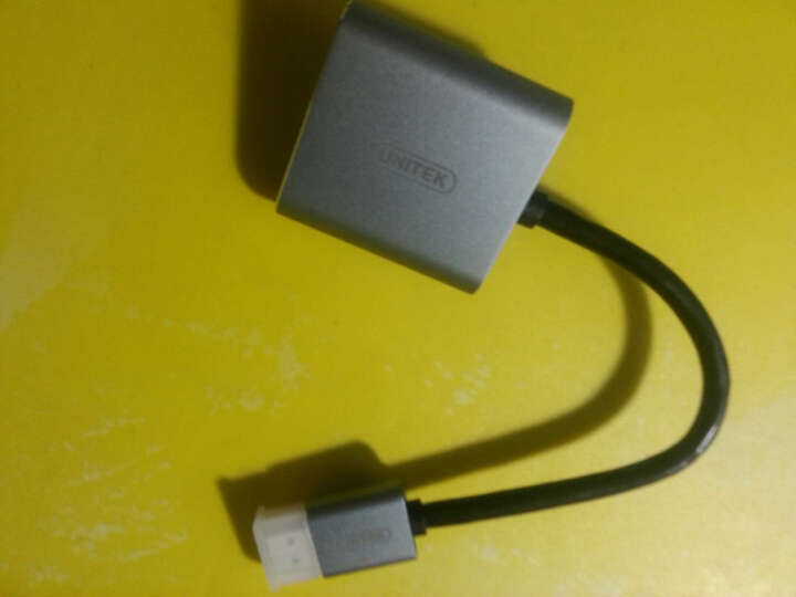 优越者(UNITEK)hdmi转vga转换器 高清视频转接器 hdmi接口头视频线 笔记本电脑盒子投影仪适配器 Y-5325GY 晒单图