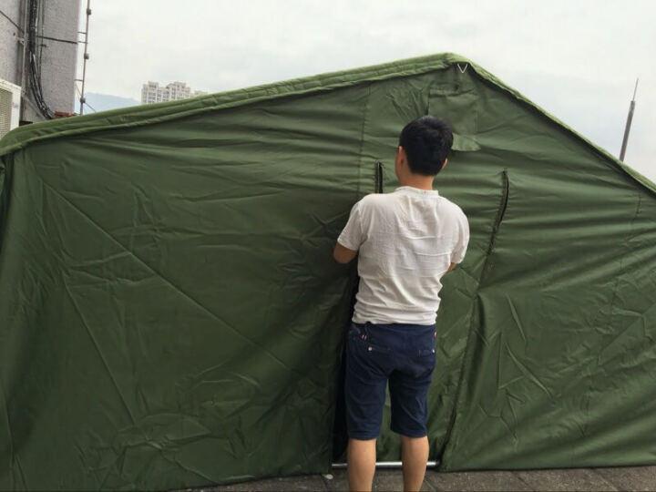 兵行者户外夏季防雨野营工程帐篷救灾帐篷工地施工帐篷帆布夏季帐篷 镀锌方管地梁有机硅帆布3*4 晒单图