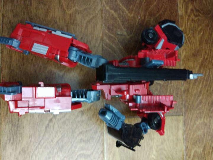 威将  火尊战将5合体合金版变形金刚玩具汽车人机器人 挖掘机摩托车吊车救护车消防车 灭火伯爵-灭火车 晒单图