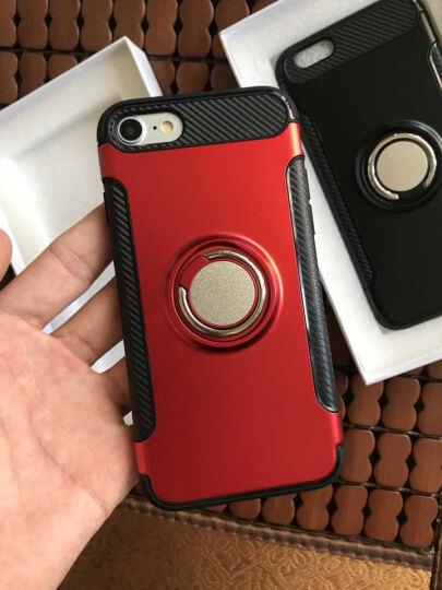 优内特 苹果7手机壳iPhone7 plus保护套苹果8硅胶防摔男女款8P全包软壳指环支架 5.5寸--苹果7Plus/8P典雅黑 晒单图