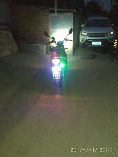 美蒂亚汽车喇叭踏板摩托车蜗牛喇叭改装配件 响汽车电动车助力车12V蜗牛高音喇叭防水 蓝色一个装 晒单图