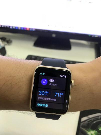 Apple Watch Series 1 智能手表(42毫米金色铝金属表壳 午夜蓝色运动型表带 防水溅 蓝牙 MQ122CH/A) 晒单图