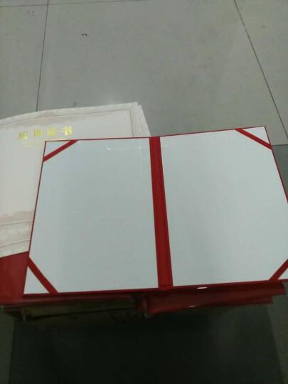 珠光纸结业证书/培训证书外壳 红色蓝色可选12K封面内页A4纸大小 包含内芯 支持内页打印 封面定制 红色结业证书1本装 晒单图
