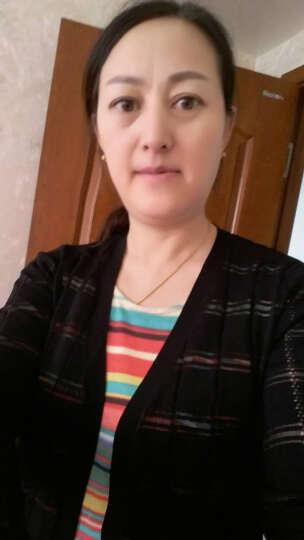 颜域品牌女装2018春装简约条纹中长款针织外披小开叉开衫外套60P7110 黄色 XL/42 晒单图