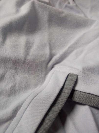 卓爾雷登 短袖T恤男2017春装男新款纯色韩版修身大码衣服印花V领POLO衫男 红色 3XL 晒单图