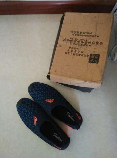 【格兰森】男鞋板鞋新款鞋子 男秋冬季加绒保暖休闲男鞋韩版潮流 夏款#N1059黑绿 42 晒单图
