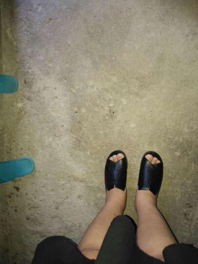 古奇天伦凉拖鞋女厚底坡跟鱼嘴鞋松糕底凉鞋2019夏季新款露趾女鞋 B839K2J黑色 39 晒单图