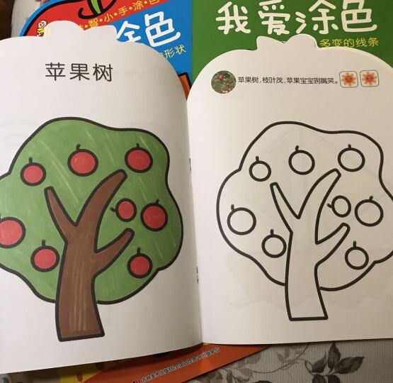 小婴孩2-4岁幼儿益智小手涂色简笔画我爱涂色童书(美丽的颜色+奇妙的色彩+多变的线条+可爱的形状 套装共4册) 晒单图