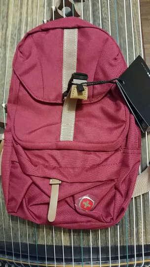 SWISSGEAR单肩包 韩版时尚休闲防泼水男士胸包 运动单肩斜挎包小包SA-9881 暗红色 晒单图
