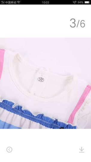 纤丝鸟(TINSINO) 纤丝鸟童装儿童纯棉连衣裙宝宝夏装婴儿衣服女童新款短袖裙子 三角竖条-大红 110 晒单图