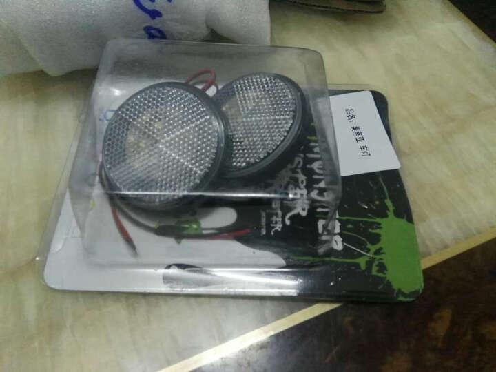 美蒂亚摩托车灯LED反光片12V转向刹车灯雅马哈电动车摩托车装饰品迅鹰鬼火踏板改装彩灯 爆闪器一个 晒单图