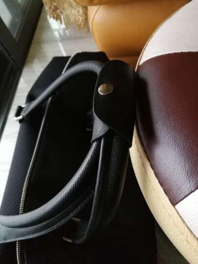 派保爵pabojoe旅行包男女通用大容量手提包席纹防水帆布手提行李包袋男包59001A 黑色 晒单图