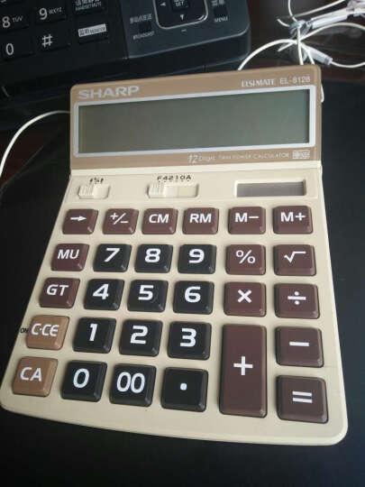 SHARP /夏普EL-8128 彩色计算器 大屏幕 大按键 显示屏幕调节 咖啡色 晒单图