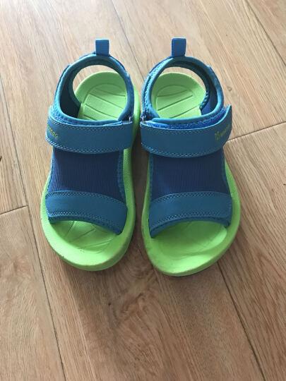 巴布豆家族童鞋2017夏季儿童鞋男童凉鞋女童魔术贴沙滩鞋软底露趾凉鞋 果绿色 29 晒单图