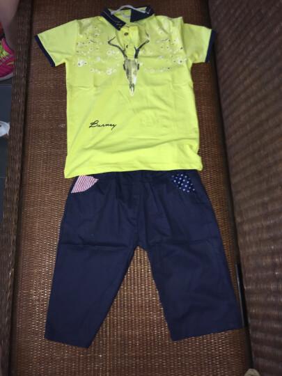 杰米尼童装男套装儿童夏款短袖T恤两件套男女童polo衫6岁2017夏季10衣服12-14岁 蓝色格子领套装 150码建议身高145cm 晒单图