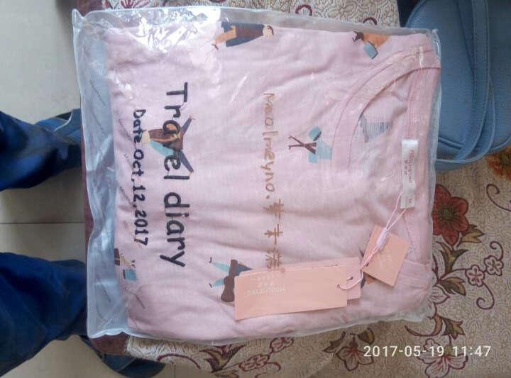 梦米诺秋季长袖女士纯棉睡衣可爱女宽松睡裙韩版长款家居服 6345 女士XL(170/92A) 晒单图