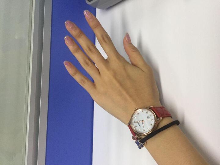 时诺比(Sinobi)手表 女镶钻时尚女士手表皮带情侣防水学生石英腕表 粉带银壳+心形9560 晒单图