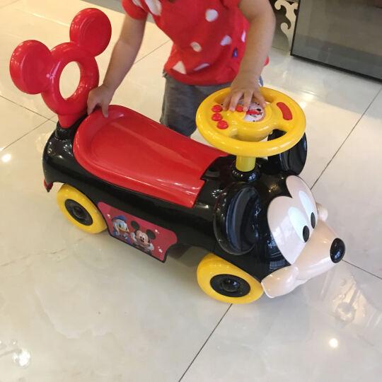 正版迪士尼授权宝宝学步车手推车防侧翻儿童多功能扭扭车滑行车婴儿助步车溜溜车男女宝宝礼物 6655米妮-有推杆遮阳棚 晒单图