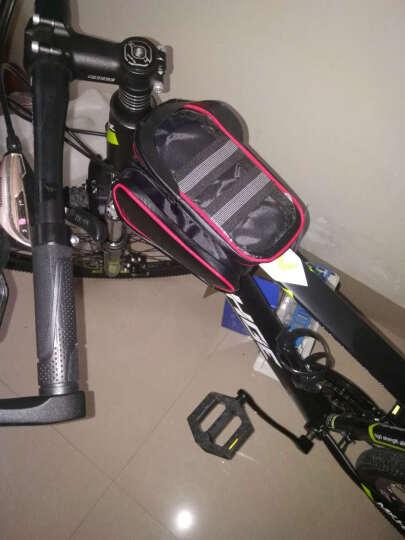 骑行自行车包 前梁包防水山地车马鞍包 手机包 上管包骑行包装备配件 红色 均码 晒单图