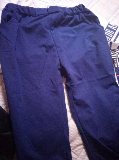 曼尼小象童装男童秋装套装儿童两件套新款休闲运动服 4-12岁儿童两件套男孩中小学生衣服 MXC045 红色 130码建议身高130cm 晒单图