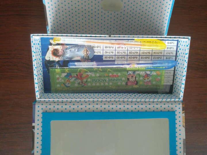 学生带密码锁文具盒 纸质三层四层文具盒男生女生多功能铅笔盒 4层芭比娃娃 图案随机 晒单图