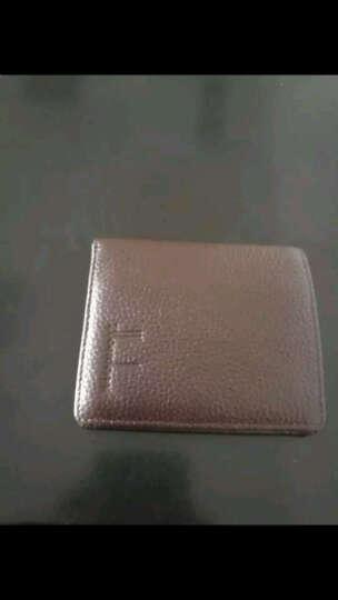 佐尔丹妮钱包男士短款学生超薄韩版迷你小钱夹真皮多卡位竖款卡包 A185荔纹咖啡色 晒单图