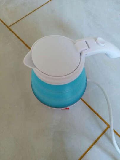 迷你可折叠旅行烧水壶电热水壶小容量便携式0.5L旅游电茶壶 灰色 晒单图