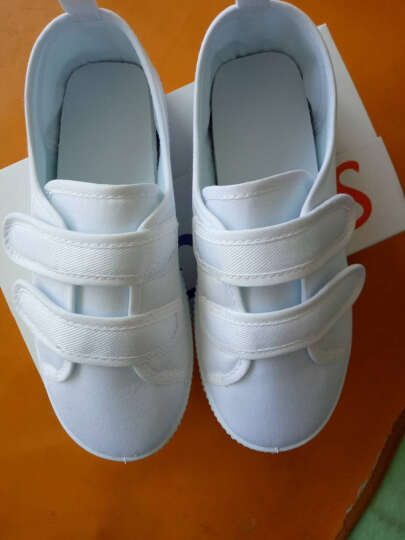 素肌棉儿童小白鞋男女童白鞋儿童白色舞蹈鞋学校运动鞋男孩女孩学生小白鞋 款五 38(鞋垫长约23.5cm) 晒单图