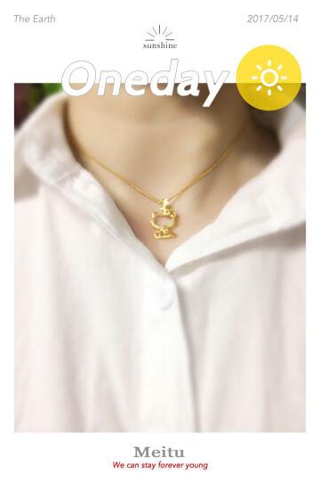 周大福 Hello Kitty凯蒂猫系列 定价足金黄金吊坠 R14685 2360元 晒单图