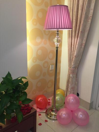 络曼(LUOMAN) 粉红色欧式水晶落地灯婚庆礼品礼物创意节日装饰美式客厅卧室床头落地台灯 EA2082-落地灯-脚踏开关 晒单图