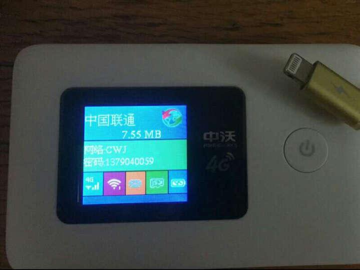 中沃随身wifi移动wifi宽带电信联通4g无线路由器 直插SIM卡上网 车载随身mifi 彩屏版 联通4G3G电信4G 晒单图