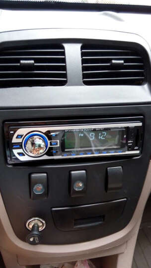 车美美蓝牙免提电话12V/24V车载插卡机车载蓝牙MP3播放器汽车收音机大功率车载功放机 大众专用插头+天线专接头-8027蓝牙款 晒单图