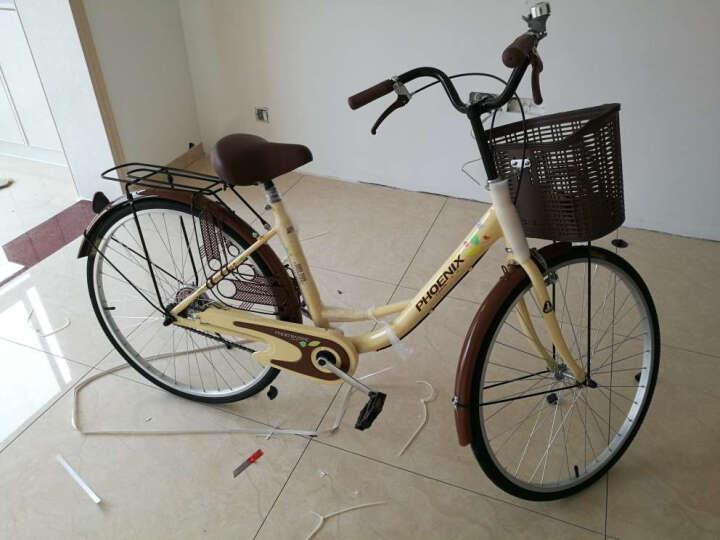 凤凰(Phoenix) 城市自行车轻便通勤自行车女式学生男女复古公主淑女单车 24寸莉莉 蓝色 晒单图